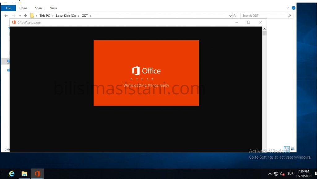 ofis kurulma ekranı
