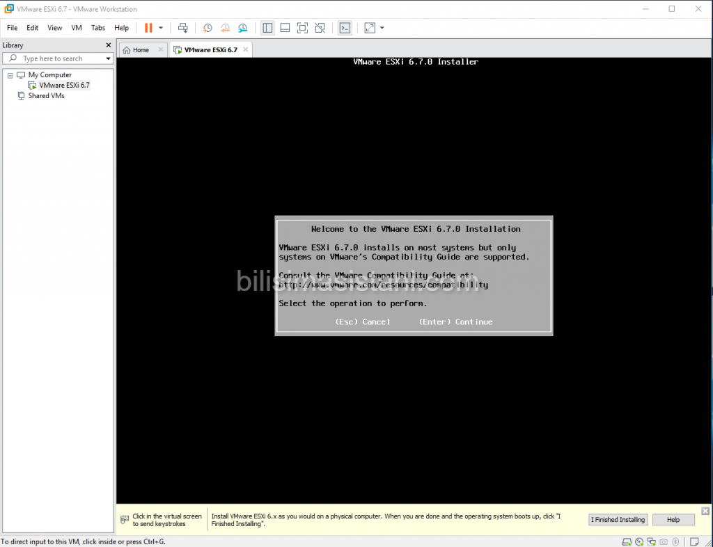 Welocme to vmware esxi installation