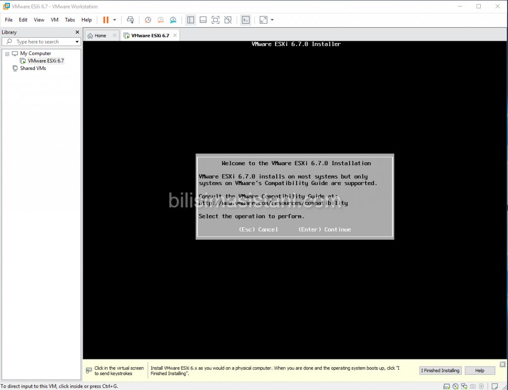 Welocme to vmware esxi installation