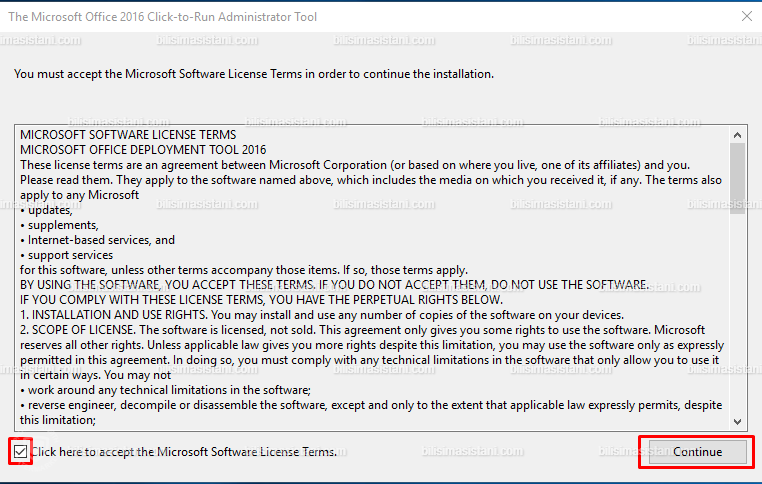 Microsoft Office Deployment Tool Software Terms