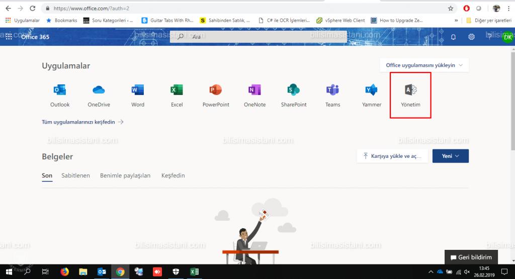Office 365 yönetim
