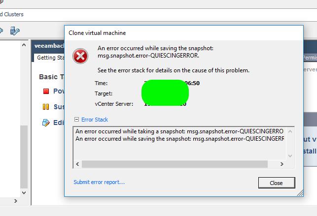 Vmware VM Clone Sorunu
